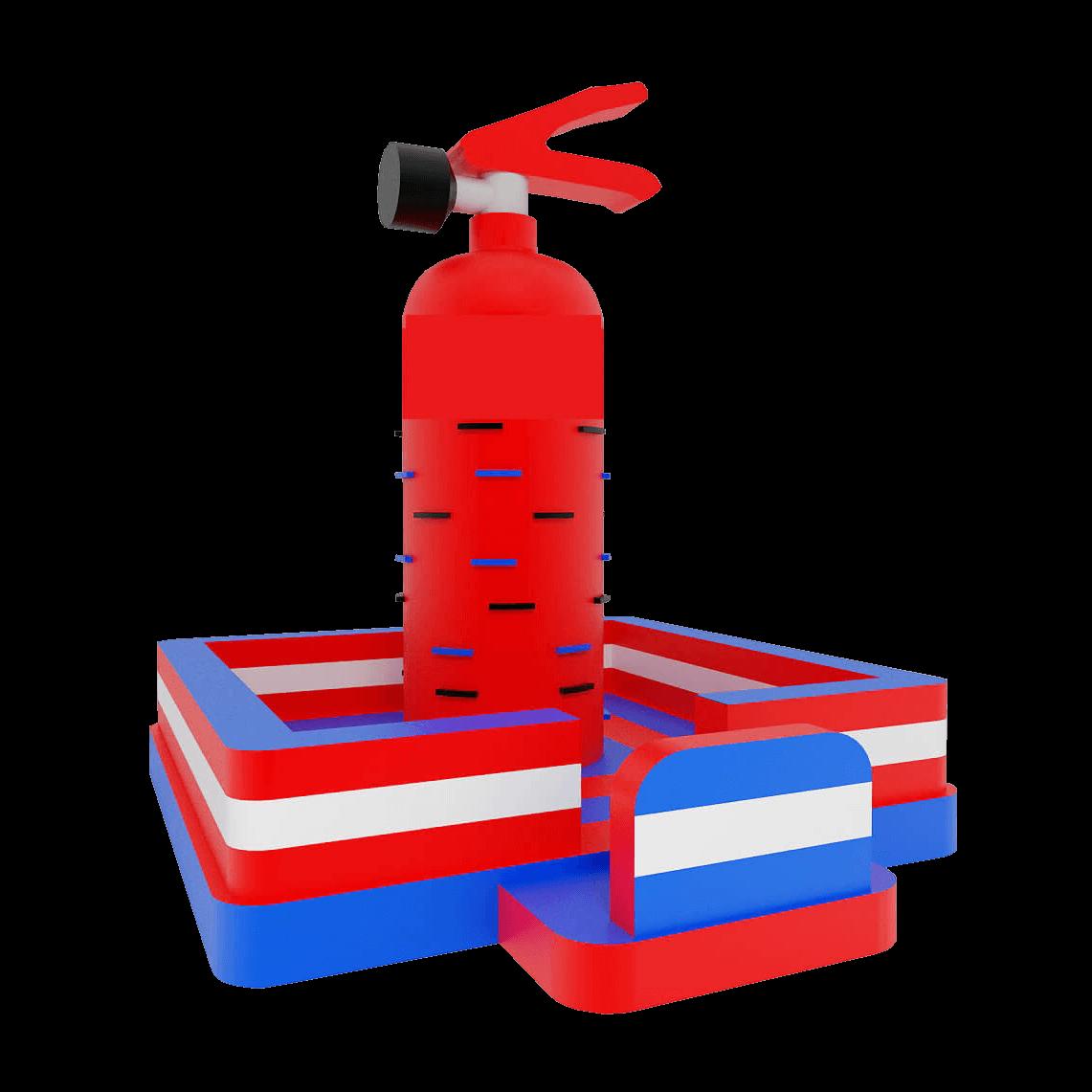 dmuchana ścianka wspinaczkowa straż pożarna gaśnica
